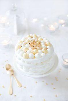 Pavlova de fêtes, miel et vanille ©Fraise & Basilic