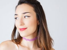 Clothing Gift Tattoo Choker Lilac Choker Beaded #jewelry #necklace @EtsyMktgTool http://etsy.me/2aTkl3W