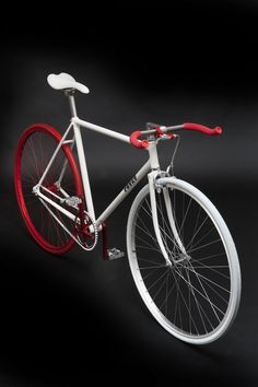 "Fixie | PHYXT by Marinko Markovic. Which designer said ""There are only three colours, white, black and red""? Roger Black. And, here we have it, far from the world of type and page layout. Black text on white and red for flashes of excitement and emphasis. Looks great!"