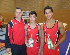 Daniel Morres, German gymnast and model (right)