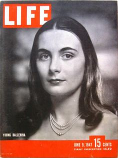 June 1947 Cover: Enrica Soma, Ballerina & mother of Anjelica Houston, died in car crash in France