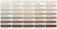 Kwal Paint Color Chart Paint Chart Chip Sample