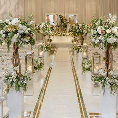 Ideas Wedding Winter Church Aisle Runners For 2019 Wedding Walkway, Wedding Church Aisle, Wedding Ceremony Flowers, Wedding Stage, Wedding Photos, Wedding Halls, Wedding Ideas, Wedding Planning, Church Weddings