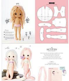 Felt Crafts Patterns, Doll Patterns Free, Doll Sewing Patterns, Sewing Dolls, Doll Clothes Patterns, Fabric Doll Pattern, Plush Pattern, Fabric Dolls, Paper Dolls