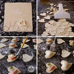 Montando coração folhado sabor pizza- Passo a passo com fotos - How to bake pastry pizza flavored- DIY tutorial  - Madame Criativa - www.mad...
