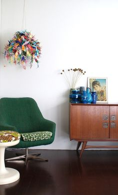 Ingrid & Sjaak's Colorful Dutch Abode House Tour ~ via apartmenttherapy