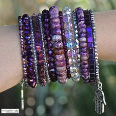 DIY Purple Haze bracelet by @dyezbakmoore featuring Bead Gallery beads available @michaelsstores #madewithmichaels