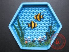 Aquarium Scene in Quilling - by:  ChauKhangshop Quilling-The World of Quilling FB