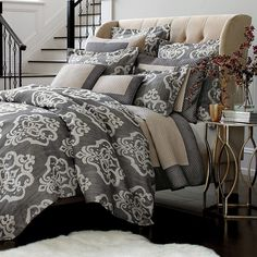 "I""m looking for grayish bedding to match our new room.  Love this one, unfortunately I do not love the price."