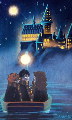 First day at Hogwarts :) by enerJax gif