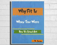 dr seuss decor quote poster nursery 11x17 by ThePickleShop on Etsy, $15.00