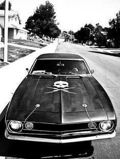 #American #car #sports car #muscle #muscle car #black #death trap