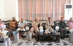 اخبار اليمن : محافظ حضرموت اللواء الركن فرج سالمين البحسني يلتقي مقادمة ومشائخ قبائل سيبان