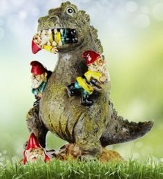 T-Rex Figur - Gartenzwerg Massaker