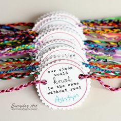 Friendship Bracelet Valentines by Everyday Art