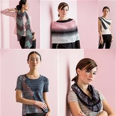Knitwear, Spring, 2014. Note the Black/White vest, upper right.