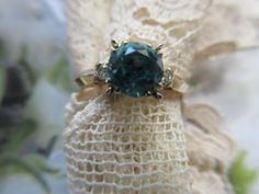 Vintage Engagement Ring Retro Engagement Ring by AndOnToWillow