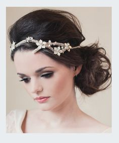 Bridal Rhinestone adorned Hair Vine with by KlaireVanEltonBridal, £265.00