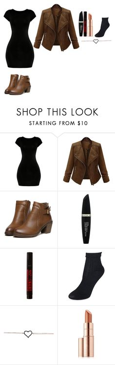 """Calliope Hunter #6"" by stormyskystyle ❤ liked on Polyvore featuring Max Factor, Kate Spade and Estée Lauder"