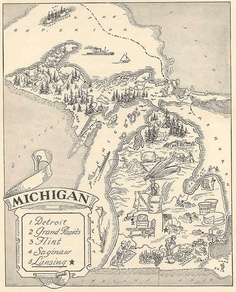 Michigan's noteworthy cities circa 1959. It's interesting to see how much has changed in 54 years.