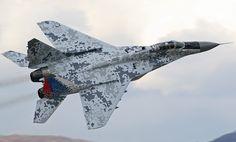 MiG-29 Fulcrum Fighter in Digital Pattern
