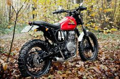Dirty Sandy: a custom Honda Dominator dual sport from France.