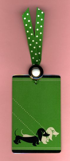 DOXIE DUO Art Deco Bookmark Handmade from Vintage Playing Card & Button with Grosgrain Ribbon. $4.00, via Etsy. VERY SWEET!