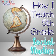 How I Teach 5th Grade Social Studies