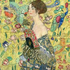 Gustav Klimt, Frau mit Fächer (Woman with Fan), 1917-8.