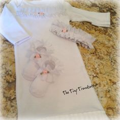 Little Rose Bud 3 pc Layette Set by TheTinyTrendsetter on Etsy, $29.00