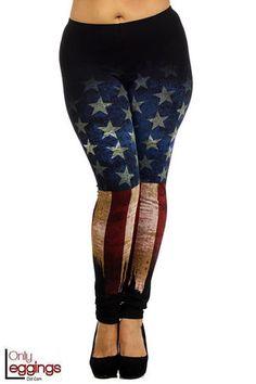2bd664f72c8be Rustic USA Flag Leggings - Plus Size - $36.00 at OnlyLeggings.com -  #onlyleggings