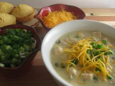 Creamy White Chicken Chili - Kitchen Meets Girl