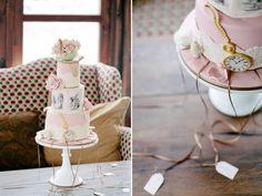 Alice in wonderland signs | Alice in Wonderland Cake - Winter Wedding by idaost