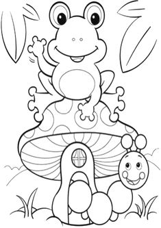 Frog Coloring Pages, Spring Coloring Pages, Preschool Coloring Pages, Flower Coloring Pages, Christmas Coloring Pages, Free Printable Coloring Pages, Free Coloring, Coloring Pages For Kids, Coloring Books