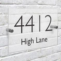 Personalised Acrylic House Sign A stylish and modern personalised Acrylic House Sign that will make their home stand out from the rest! Personalise this sign with a house/flat number of up to 4 digits and 1 line of text of up to 15 http://www.MightGet.com/january-2017-13/personalised-acrylic-house-sign.asp