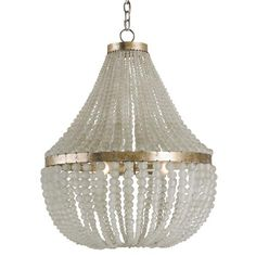 True glamour is not for the shy or under-confident, and this chandelier expresses the extroverted gorgeousness that makes something truly glamorous.  A classic matte-clear beaded chandelier finished in silver granello, this is a Hollywood Regency favorite just begging for its close-up.