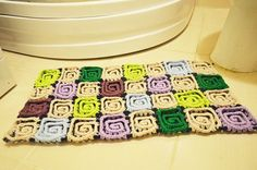 Rugdoormatpet matEntertaining Crochet Bath Mat #crochet #afghan #throw #knitting #patternsforcrochet #freecrochetpatterns #blanket #farmhousedecor #farmhouse #restorationhardware #trendy #style #redecorate #homedecorating #doormat #rug #homerug #babyrug #BathroomRug #pompom #babyroom #ragrug