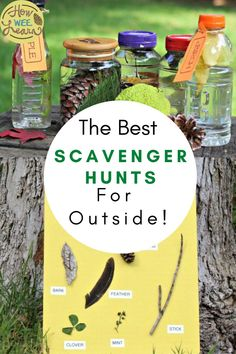 Nice and easy scavenger hunts that are so fun for kids to do! These ideas are perfect for outside at a park, in the backyard, or for an outdoor birthday party. There are free printable scavenger hunt lists, nature scavenger hunt clues, you name it! Creative Activities For Kids, Outdoor Activities For Kids, Nature Activities, Outdoor Learning, Kids Learning Activities, Fun Learning, Free Activities, Creative Play, Outdoor Play
