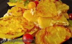 Tejben sült burgonya Hungarian Recipes, Hungarian Food, Bacon, Food And Drink, Dairy, Potatoes, Eggs, Cheese, Breakfast