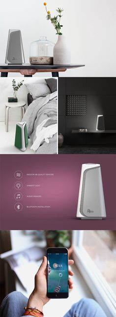 "'NOVA' is more than just an air purifier, this ""nomadic"" product can be placed anywhere and everywhere to not only clean the surrounding air of pollen,  dust, and particles, but also provide an ambient glow and music... READ MORE at Yanko Design !"