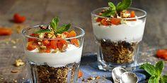 Πεντανόστιμες και υγιεινές ιδέες για γλυκά με δημητριακά Kefir, Panna Cotta, Pudding, Cooking, Ethnic Recipes, Desserts, Food, Kitchen, Tailgate Desserts
