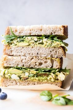 on toasted bread and eaten as a sandwich because that's really the only way to eat a chicken salad. The post Mediterranean Avocado Chicken Salad. appeared first on Half Baked Harvest. Avocado Recipes, Lunch Recipes, Healthy Recipes, Easy Recipes, Sandwich Recipes, Salad Recipes, Keto Recipes, Dinner Recipes, Easy Lunches For Work