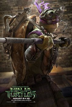 Donatello - TEENAGE MUTANT NINJA TURTLES - Cool New Trailer and 4 Posters! — GeekTyrant