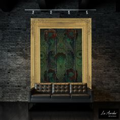 'Oasis' -Framed- From the Secret Garden Wallpaper collection. A Luxury Wallpaper designed and produced by La Aurelia ®, the Netherlands http://www.la-aurelia.com