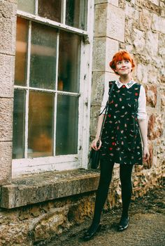 A Clothes Horse: Outfit: 3 Ways to Wear Miss Patina's Great Britain Shirt Quirky Fashion, Vintage Fashion, Pretty Outfits, Cute Outfits, Estilo Lolita, Look Retro, Mein Style, Looks Street Style, Moda Vintage