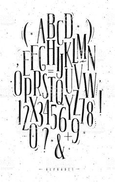 Fonte gótica de alfabeto vetor e ilustração royalty-free royalty-free