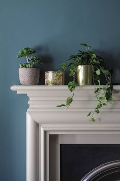 Transforming our Living Room with Farrow & Ball Farrow Ball, Farrow And Ball Paint, Painted Fire Surround, Champagne Living Room, Farrow And Ball Inchyra Blue, Front Room Decor, Front Rooms, Farrow And Ball Living Room, Blue Hallway