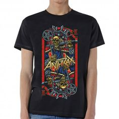 Officially licensed merch from Anthrax Evil King Slim Fit T-Shirt available at Rockabilia King Design, High Quality T Shirts, Direct To Garment Printer, Cotton Tee, Shirt Style, Short Sleeves, Unisex, Tees, Mens Tops