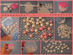 How to make edible pearls with fondant.