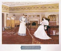 "Gilded Age image, promoting the wonders of a vacuum cleaner, late 19th century. Captioned: ""Wonderful!"". ~ {cwl}"